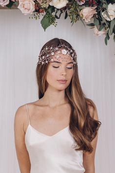 Statement bohemian intertwined woven wedding hairvine - Katya