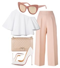 """Memories"" by smartbuyglasses-uk ❤ liked on Polyvore featuring Fendi, STELLA McCARTNEY, Christian Louboutin, Chanel, white, Pink and StellaMcCartney"