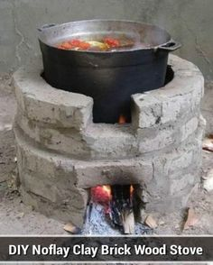 DIY Noflay Clay Brick Wood Stove - low cost, convenient & easy to build. - DIY Noflay Clay Brick Wood Stove - low cost, convenient & easy to build. Welcome to Resource Efficient Agricultural Production - REAP - Canada , Welcome to Useful resource Environm Outdoor Stove, Outdoor Fire, Outdoor Decor, Outdoor Kocher, Brick And Wood, Wood Wood, Rocket Stoves, Diy Rocket Stove, Outdoor Kitchen Design