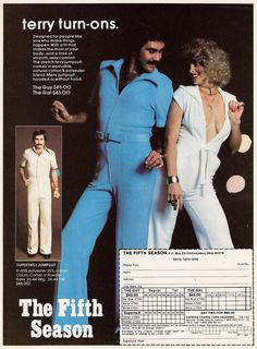 831349b4dc8d Men s Fashion Ad 1970s - Are you turned on yet  Vintage Jumpsuit