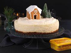 Ostekake med pepperkakebunn og hvit sjokolade Mousse Cake, Gelatin, Christmas Holidays, Cake Recipes, Birthday Parties, Cheese, Party, Desserts, Food