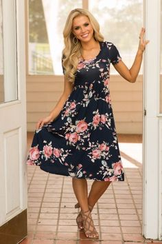 Never Be Like The Rest Dress - Navy