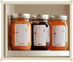 Calendar canning jar printable