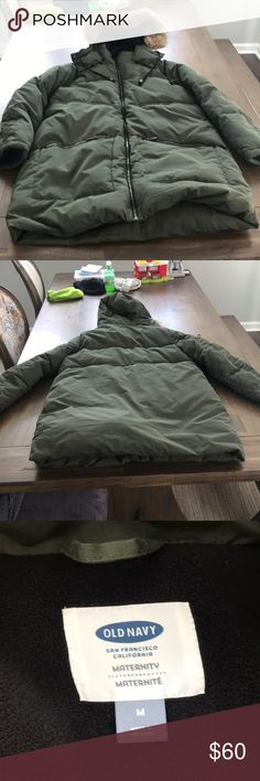 Old Navy Green Maternity Parka size Medium Old Navy parka in green size medium. Perfect condition. No tags. Old Navy Jackets & Coats