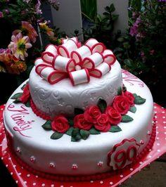 Cake 90 years old, classic cake