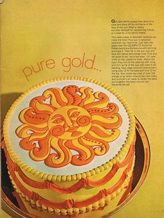 sun cake by Woof Nanny, via Flickr
