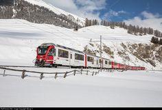 RailPictures.Net Photo: 3506 RhB - Rhätische Bahn ABe 8/12 at Celerina, Switzerland by Georg Trüb
