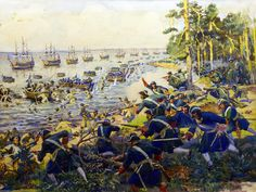The defeat of the Swedish army at Tolbuhinskoy, Great Northern War