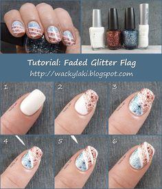 Tutorial: Faded Glitter Flag