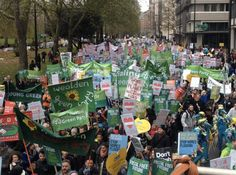 Here's some of the Green Bloc in London - it's estimated over people attended the march, making today the biggest climate march in British history. Environmental Ethics, Environmentalism, British History, Ecology, Restoration, March, London, Future, Green