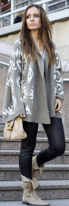 The more oversized the sweater, the skinner the pants/leggings!