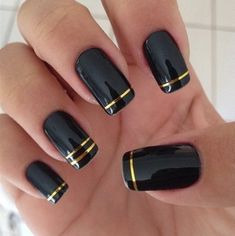 diy nail stickers with tape