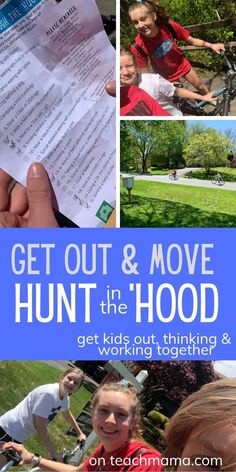 Siblings working together with this fun, FREE!, Hunt in the 'Hood. This is a 1-page hunt for kids to do now, with social distancing rules in place! Get those kids, especially siblings or kids who are quarantined together, out and moving, thinking, and working together to complete all 20 tasks on this hunt. It was a HIT for our three kids, and I bet it will be a hit for yours, too!