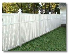 i really want a white vinyl fence for our home