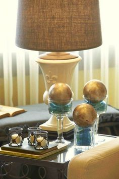 Accessories from Willow House. Lamp was custom made from a Royal Street Urn. www.denisecosgrove.willowhouse.com