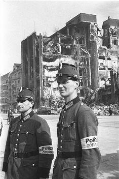 German civilian police in Berlin in the immediate aftermath of the war, 1945.