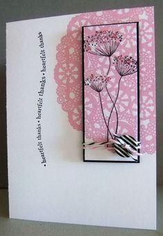*Doily background card by Tilly McLeod