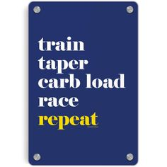 Running Metal Wall Art Panel - Run Mantra (Repeat)