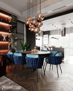 Futuro Park on Behance Dinning Table Design, Dining Table Chairs, Luxury Dining Tables, Contemporary Home Furniture, Best Kitchen Designs, Dining Room Inspiration, Luxury Home Decor, Apartment Interior, Modern Interior Design