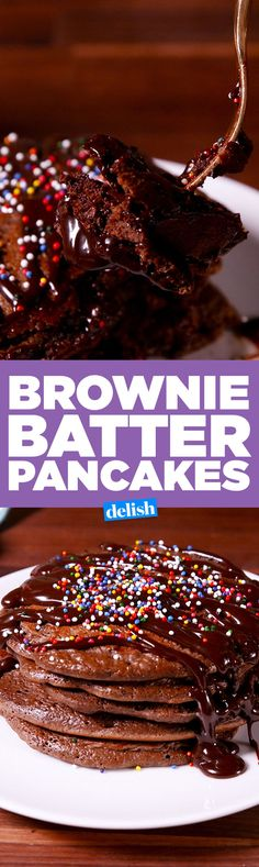 Brownie Batter Pancakes: Over-The-Top Breakfast Or Decadent Dessert?  - Delish.com