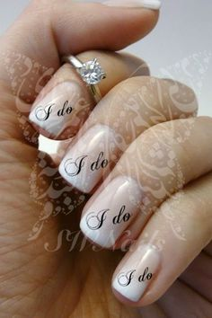 Nail Art Wedding I do Nail Water Decals Transfers Wraps