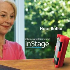 M.Wave InStage: The perfect solution for iPhone Speaker Phone. It amplifies iPhone's speaker sound 400% and keep in secure with a soft high quality silicone stand. Enjoy Free-hands phone conversation with InStage! By Datexx @ http://www.amazon.com/datexx