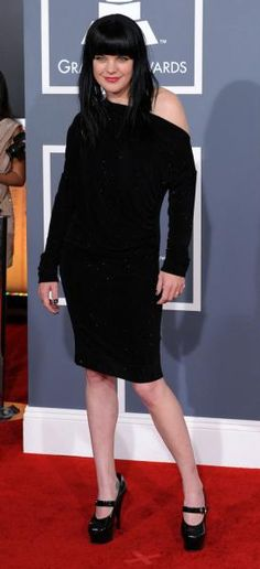 Pauley Perrette in Vivian Westwood at The Grammys