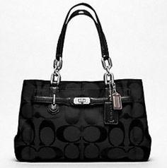 My favorite Coach bag!  Coach Chelsea Signature Jayden Carryall - Black - 17806 - RM 1160 - N/A - N/A : welovecoach.com