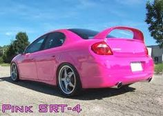 Pink Dodge Neon ☆ Girly Cars for Female Drivers! Love Pink Cars ♥ It's the dream car for every girl ALL THINGS PINK! pinned by Cindy Vermeulen