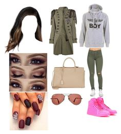 """1007"" by paukar ❤ liked on Polyvore featuring Gucci, Balmain, Yves Saint Laurent and Ray-Ban"