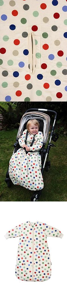 Winter Travel Baby Sleeping Bag Long Sleeves approx. 3.5 Tog - Bubble Dot - 0-6 months/28inch