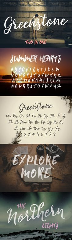 Greenstone Script & Summer Hearts --- Greenstone is a hand lettered typeface, completed with a mix of pens and brushes. Wedding Fonts, Wedding Invitations, Scottish Gaelic, European Languages, Illustrator Cs, Modern Fonts, Script Fonts, Letterhead, Cool Fonts