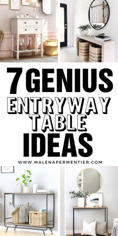 I never thought much of entryway tables, until I realized their narrow slim shape is ideal for small spaces. These 7 ideas show you super creative ways to use an entryway table in your apartment for extra storage and decoration. #entrywaytable #decor #smallentrywaytable #smallspaces Small Apartment Organization, Apartment Decorating On A Budget, Small Apartment Design, Small Apartments, Entryway Table With Storage, Narrow Entryway Table, Entryway Ideas, Entryway Decor, Living Room Bench