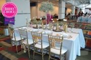 BRIDES' CHOICE - 1ST PLACE: Chair decor from reInspired Bride at the 2015 John S. Knight Center bridal show   As seen on TodaysBride.com
