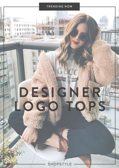 Wear a branded logo top to make a serious style statement.