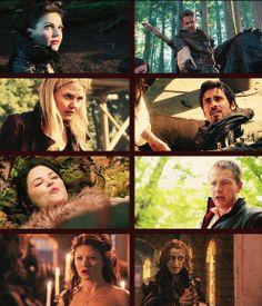 How True Love Begins: Outlaw Queen, Captain Swan, Prince Snow, Rumbelle