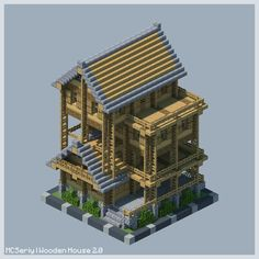 Here you can share your Minecraft builds and seek advice and feedback from like minded builders! From PC to Pocket Edtion, Professional to novice. Minecraft Wooden House, Casa Medieval Minecraft, Minecraft Statues, Minecraft Farm, Minecraft Images, Minecraft Houses Survival, Minecraft Plans, Minecraft Construction, Minecraft House Designs