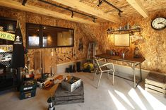 Garage Office, Garage Loft, Garage Tools, Garage Workshop, Home Office, Osb Board, Garage Design, Shop Plans, My Dream Home
