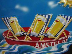Amstel beer vintage poster