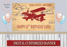 Vintage Aircraft – The Major Attractions Of Air Festivals - Popular Vintage Birthday Backdrop, Birthday Party Themes, Birthday Invitations, Vintage Airplane Party, Vintage Airplanes, Time Flies Birthday, Airplane Banner, Airplane Baby Shower, Rustic Birthday