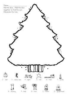 classroom, school, winter trees, tree roll, dice games