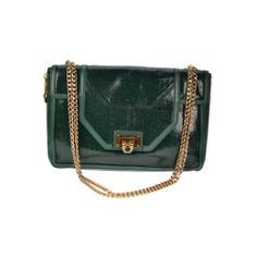 Rebecca Minkoff Shoulder Bag Green Leather Gold Hardware Authentic Pre Owned | eBay