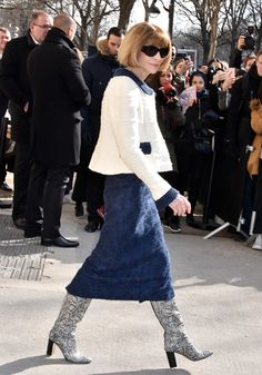 Anna Wintour Can't Stop Wearing These Amazing Boots via @WhoWhatWear