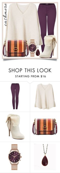 """cashmere beige sweater"" by teto000 ❤ liked on Polyvore featuring 2LUV, MANGO, Jennifer Lopez, Tory Burch, Henry London, Blue Candy Jewelry and cashmere"