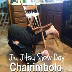 That chair's just a whitebelt. Of course it's going to get berimbolo'd