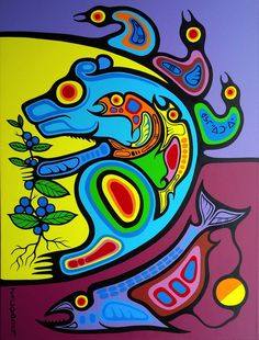 Title of painting: Bear Medicine - Nourishment of the Soul Native Art, Native American Art, Native Canadian, American Symbols, American Women, American Indians, American History, Westerns, Woodland Art