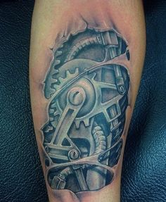 Biomechanical tattoo For Jason   tattoos picture biomechanical tattoos