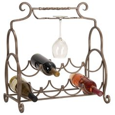 Eight-bottle tabletop wine rack.Product: Wine rackConstruction Material: Metal Color: Natural...