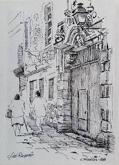 carrer del Regomir, Barcelona. Joaquim Francés (tinta #ink)