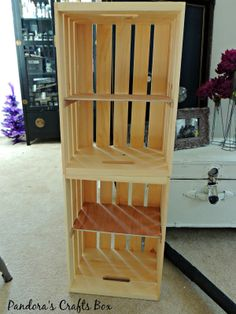 shoe storage, entryway storage, mudroom storage, crate storage, crate shelving,chalk paint, staining